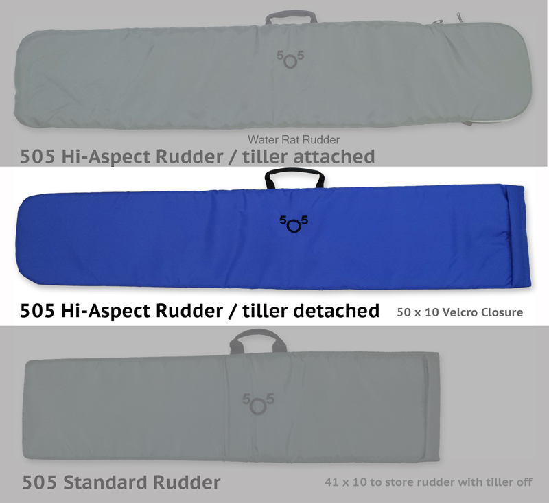 505 High Aspect Padded Rudder Detached Tiller