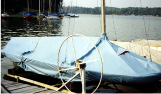 C Scow Skirted Mooring Cover