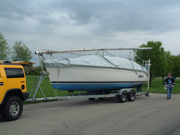 Hunter 260 Trailing Mooring Cover