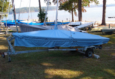 Laser 2 Skirted Trailing-Mooring Cover